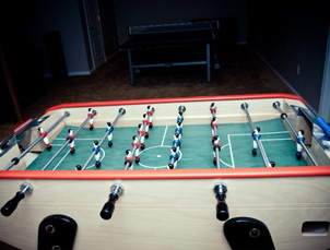 Foosball Tables Down To The Felt Custom Game Rooms - Custom foosball table